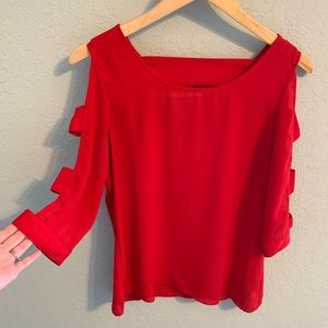 Red BCX Blouse with cutouts